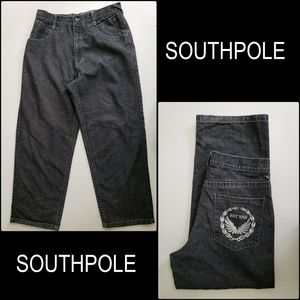 Southpole Men Denim Black Jeans Straight Size 36